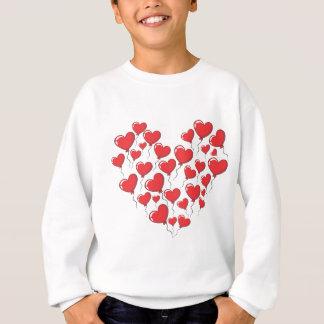 Balões dados forma coração do amor camisetas