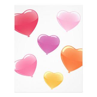 Balões dados forma coração flyer 21.59 x 27.94cm