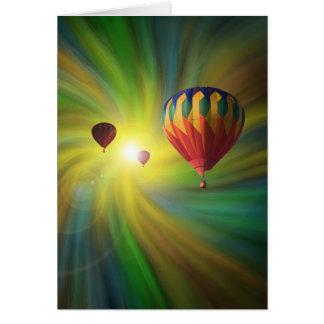 Balões de ar quentes em um cartão do Vortex