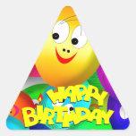 Balões do aniversário adesivos em forma de triângulo