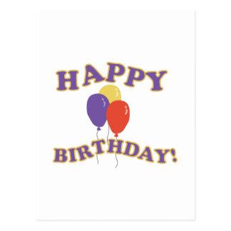 Balões do feliz aniversario cartão postal
