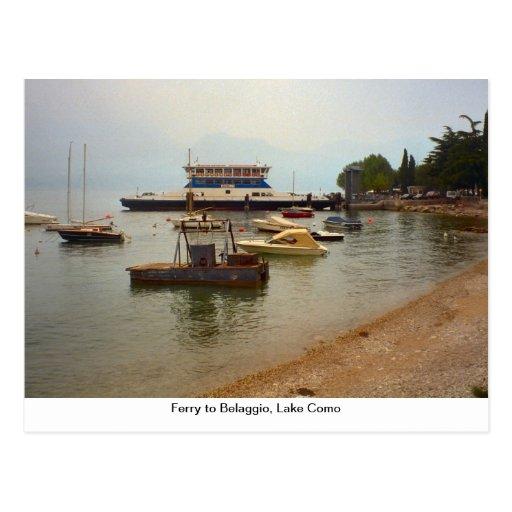 Balsa a Belaggio, lago Como Cartões Postais