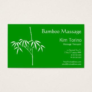 Bambu do japonês do terapeuta da massagem cartão de visitas