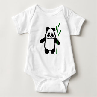Bambu o Romper do Creeper do bebê da panda Tshirt