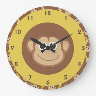 Bananas do macaco relógios para paredes