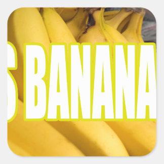 Bananas Yo de Dats Adesivo Quadrado
