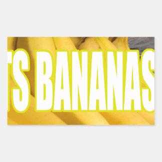 Bananas Yo de Dats Adesivo Retangular