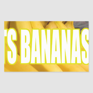 Bananas Yo de Dats Adesivos Em Forma Retangular