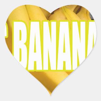 Bananas Yo de Dats Adesivo Coração