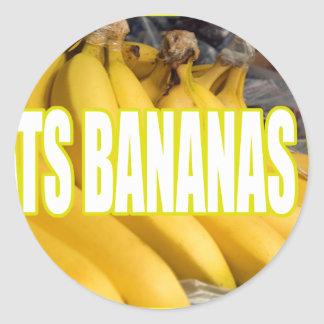 Bananas Yo de Dats Adesivo Em Formato Redondo