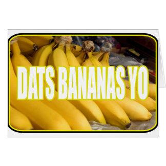 Bananas Yo de Dats Cartões
