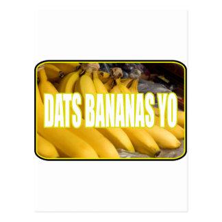 Bananas Yo de Dats Cartão Postal