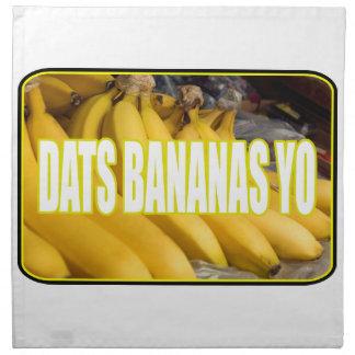 Bananas Yo de Dats Guardanapo De Pano