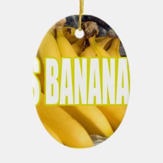 Bananas Yo de Dats Ornamento De Cerâmica Oval