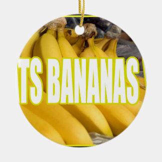 Bananas Yo de Dats Ornamento De Cerâmica Redondo