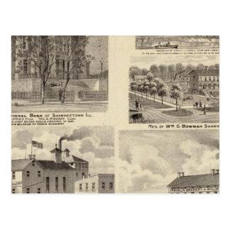 Bancos, residências e cervejarias em Shawneetown Cartão Postal