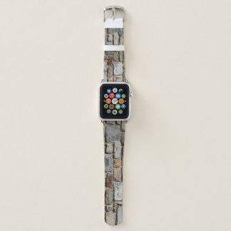 Banda de relógio de pedra cinzenta da parede da