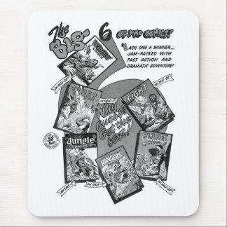 """Banda desenhada """"6"""" grande do vintage do kitsch mouse pad"""