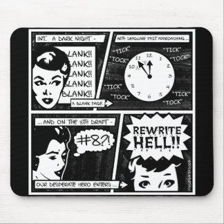 Banda desenhada do inferno da reescrita mousepad