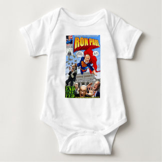Banda desenhada do super-herói de Ron Paul Body Para Bebê