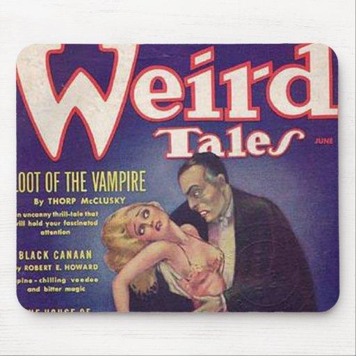 Banda desenhada estranha do vampiro dos contos mouse pad