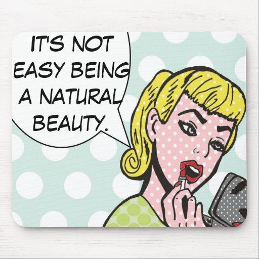 Banda desenhada natural Mousepad da beleza