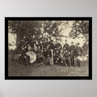 Banda militar da milícia de New York, Arlington, V Impressão