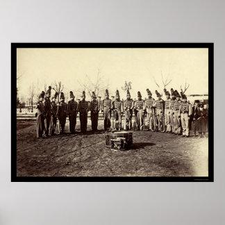 Banda militar do corpo 1865 da reserva do veterano poster