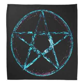 Bandana azul gelado do Pentagram