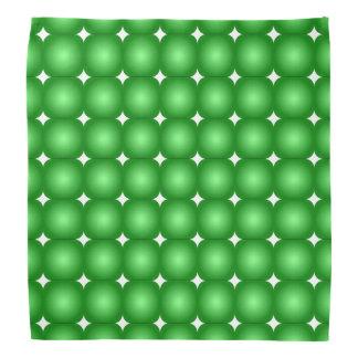 Bandana Bordas verdes e brancas, redondas