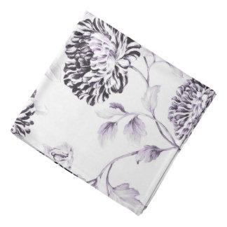 Bandana Branco antigo & Lilac Toile floral botânico