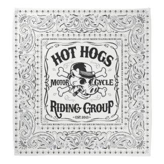 Bandana branco clássico quente de Hogs™