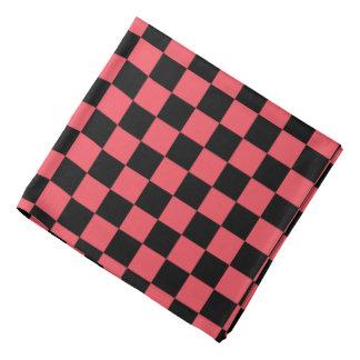 Bandana cor-de-rosa e preto do teste padrão do