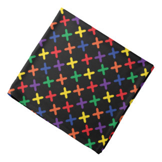 Bandana do design do x colorido preto