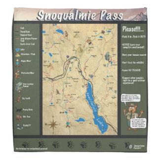 Bandana do mapa da passagem de Snoqualmie