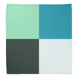 Bandana Do verde branco da cerceta de carvão turquesa azul