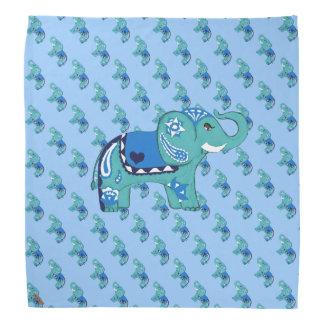 Bandana Elefante do Henna (azul/luz - azul)