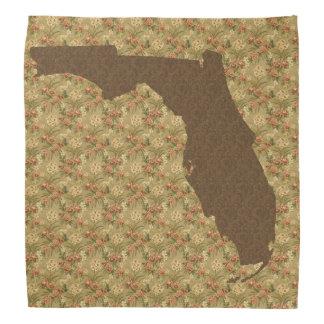 Bandana floral da beira de estado de Florida