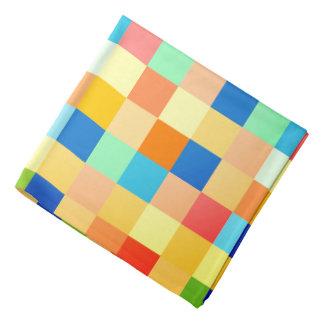 Bandana Impressão Checkered do teste padrão do quadrado do