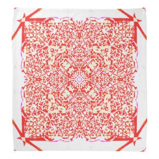 Bandana Mandala vermelha do quadrado da beleza