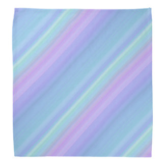 Bandana Pastel azul do arco-íris do verde roxo de
