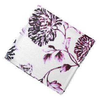 Bandana Preto branco antigo & desvaneceu-se Toile floral