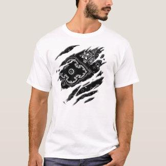 Bandana preto esfarrapado camisetas