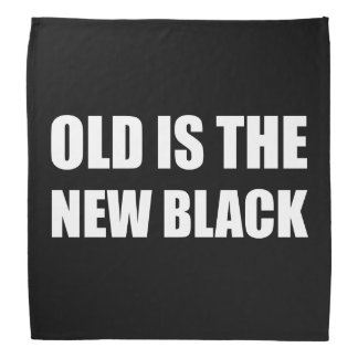 Bandana Preto novo velho