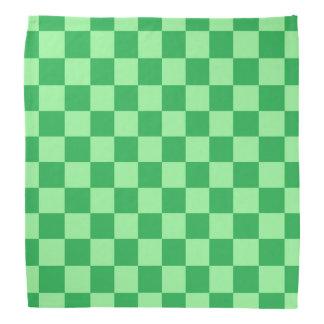 Bandana Verde Checkered verde e da hortelã
