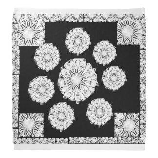 Bandanas em preto e branco