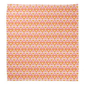 Bandanna de Rhombus™ do pêssego Pano Para Cabeça