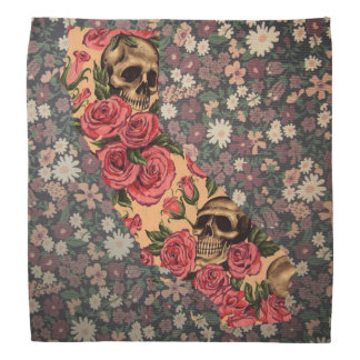 Bandanna floral do crânio do estado de Califórnia Bandanas