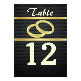 Bandas de números da mesa do ouro convite 11.30 x 15.87cm