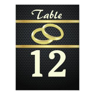 """Bandas de números da mesa do ouro convite 16.51"""" x 22.22cm"""
